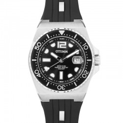 Otumm Sea Breeze Steel Black Strap 40mm