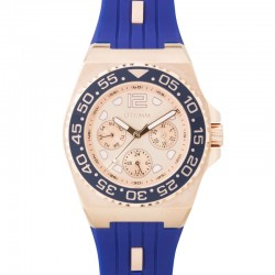 Otumm Sea Breeze Multi Function Rose Gold Blue Strap 40mm